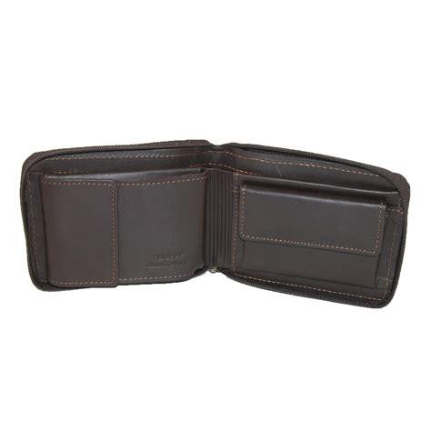Zip Wallet mens leather regatta zip around convertible billfold