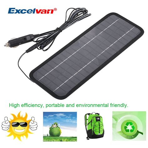 boat car charger 12v 4 5w portable power solar panel battery charger fit