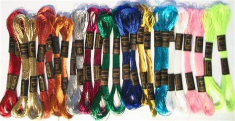 Benang Sulam Dmc Metallic Rainbow new threadnanny 24 skeins of high quality 100 cotton
