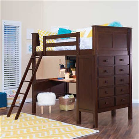 Loft Bed With Study Desk by Kenai Brown Study Loft Bed