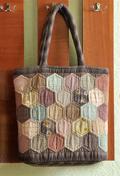hexagon quilt patchwork bag сумка из шестиугольников