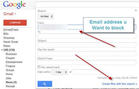 Search Gmail Email Addresses How To Block Specific Email Adresses In Gmail