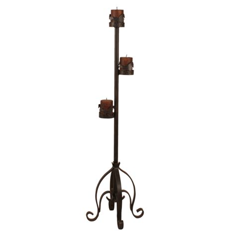 Candle Pedestal Stand Rust Streaked Pedestal Candle Stand With Accent
