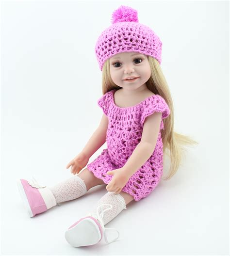 New Dress Baby Dolls High Quality 45cm princess toys with clothes clothes silicon reborn இ baby baby doll high quality