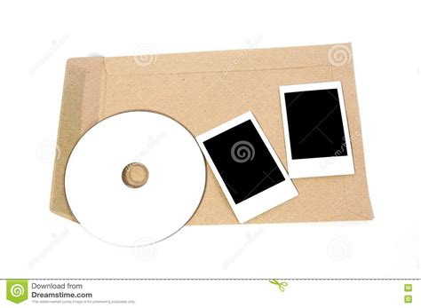 Magic Cd Envelope White brown envelope document with cd rom and frame royalty free stock photo image 18905005
