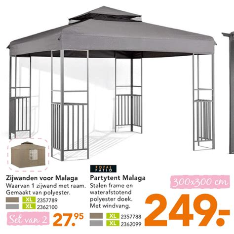 karwei paviljoentent royal patio partytent zijwanden partytent folder