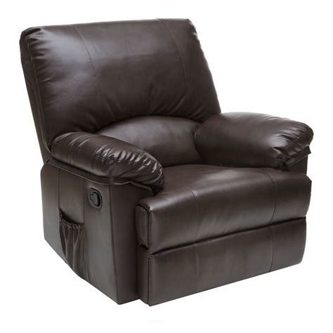 massage and heat recliner relaxzen marbled leather rocker recliner with heat and