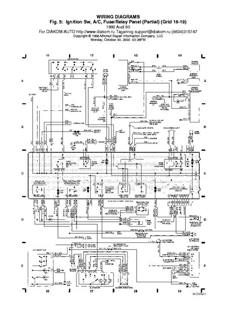 audi 80 ac rellepanel service manual schematics