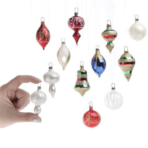 tiny petite small glass christmas ornaments christmas ornaments