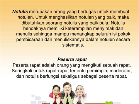 Isi Notulen Rapat by Notulen Rapat