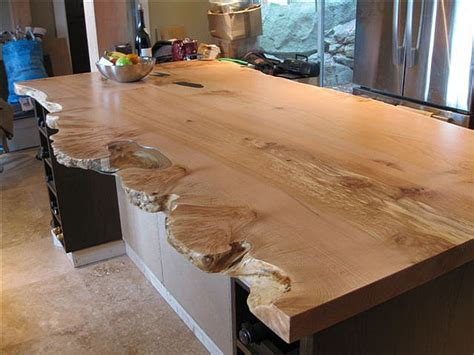 Wood Slab Bar Top by Live Edge Character Slab Kitchen Island Live