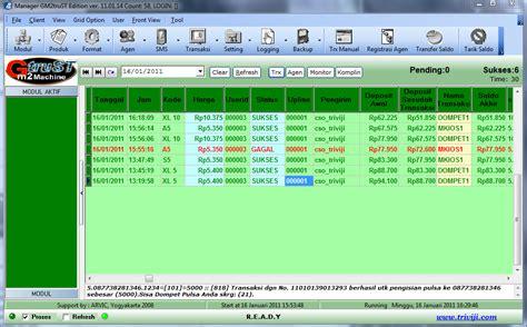 Dompet Pulsa Xl software server isi ulang pulsa gm2 machine