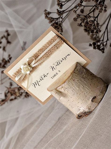 Handmade Place Cards For Weddings - custom listing 20 rustic place card holder with place