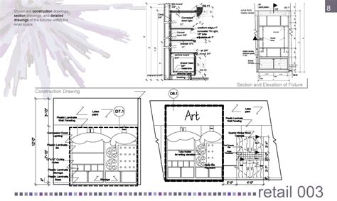 Interior Design Section Drawings by Interior Design Portfolio By Scassellati At