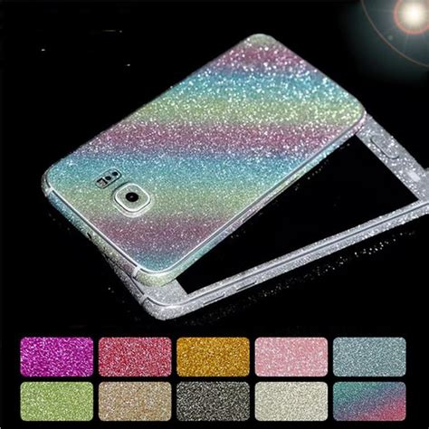 Tempered Glass Glitter Skin Samsung Galaxy Note 4 whole glitter bling screen protector sparkle