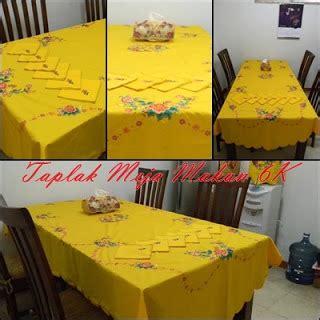 artina bordir floral table cloth