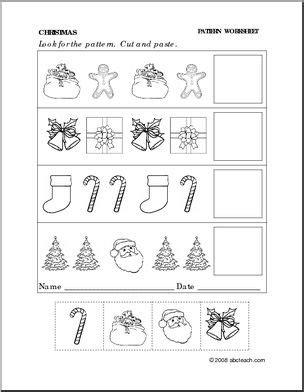 christmas pattern worksheets worksheet christmas follow the pattern preschool