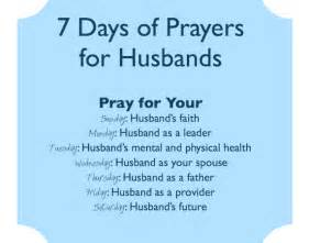 7 days of prayers for your husband one for each day of