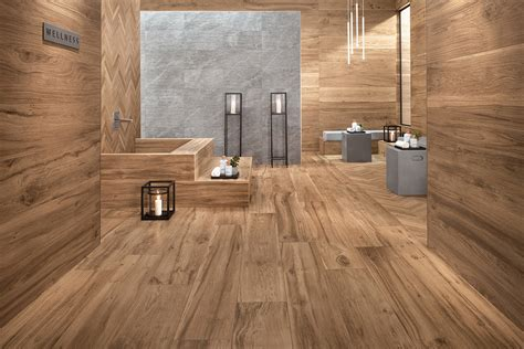 bathrooms with wood tile floors wood look tile 17 distressed rustic modern ideas