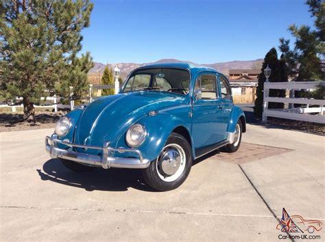 original volkswagen beetle original 1966 volkswagen vw bug beetle sea blue sedan new