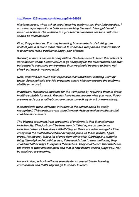 Against School Uniforms Essay by Persuasive Essay About School Uniforms Essay Should High Schools Require All Students To