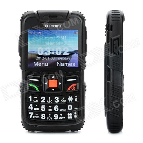 rugged cell phones lm890 ultra rugged gsm cell phone w 2 3 quot screen band dual sim and fm black free