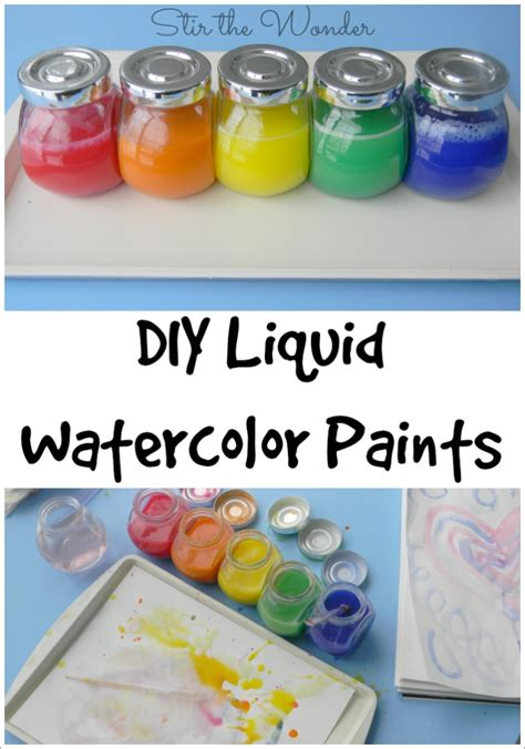 liquid water colors diy liquid watercolor paint stir the