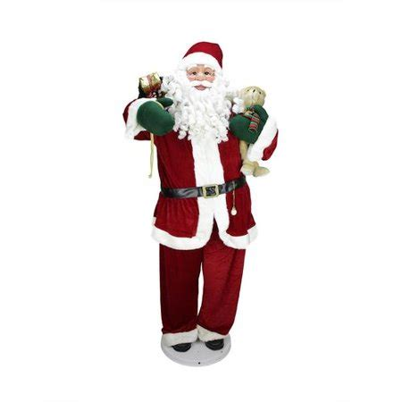 walmart singing and dancing santa claus 58 quot deluxe size animated and musical decorative santa claus figure