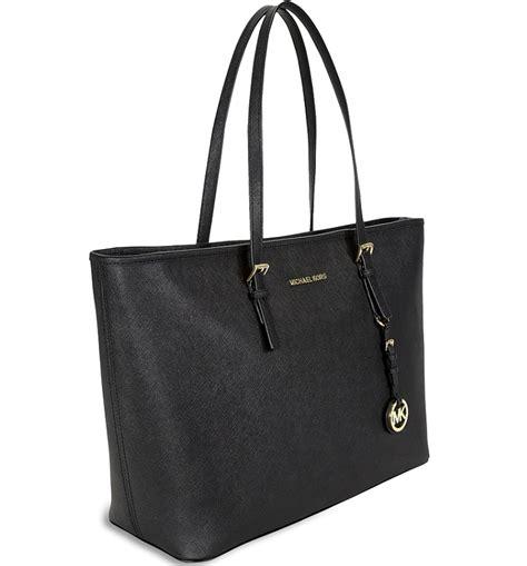 2016 michael kors bolsos outlet con estilo de la moda bolso michael kors cesto cremallera grande negro bolso