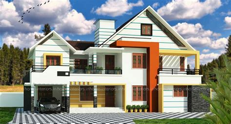 modern kerala house plan 2700 sq ft 2700 square feet double floor contemporary home designs