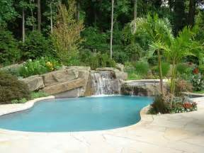 backyard pool ideas backyard swimming pools waterfalls landscaping nj