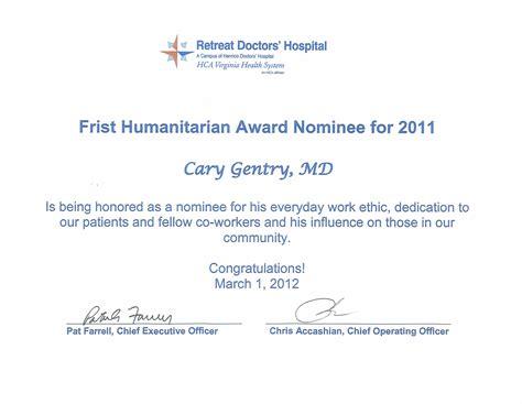 image gallery humanitarian certificate
