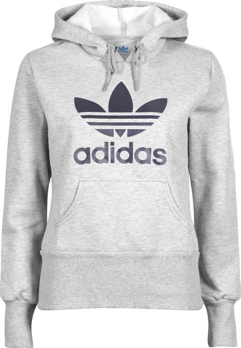 adidas hoodie adidas trefoil w hoodie grey heather