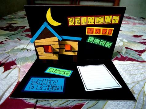 membuat blog kreatif remy sunbae promosi kad raya yang owsem boleh berdiri