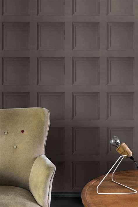 wallpaper that looks like wainscoting contempoary faux paneling brown wainscot wallpaper walls