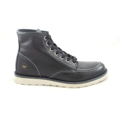 lace up boot baltimore black leather mens lace up boot from