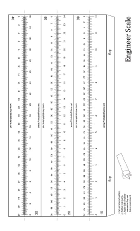 engineer scale 12 inch ruler printable ruler
