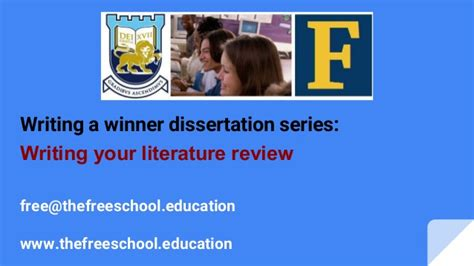 how to write a dissertation literature review chapter