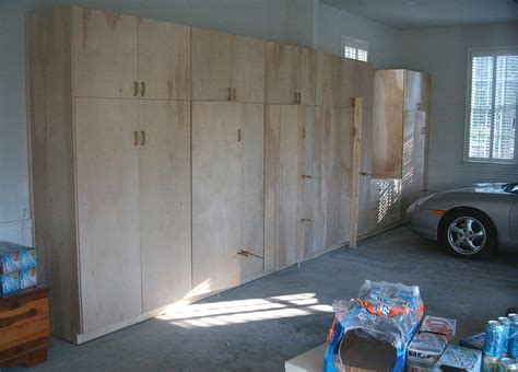 How To Design A Garage How To Build A Garage Storage Cabinet With Doors Home