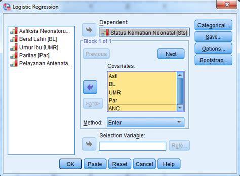 tutorial spss regresi berganda lentera pena tutorial spss uji or dan regresi logistik