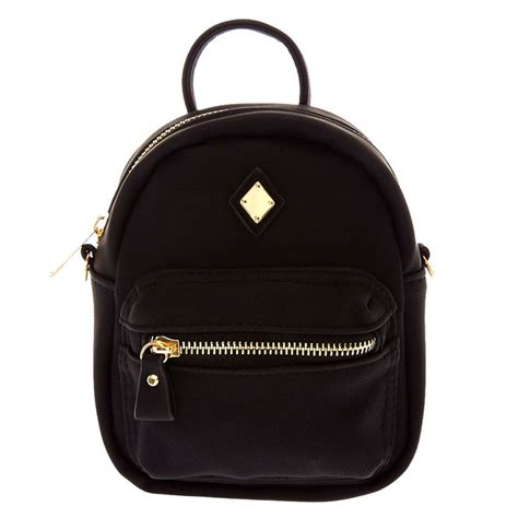 Mini Faux Leather Crossbody Bag mini faux leather black crossbody backpack s ca