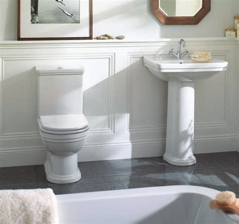 mere aristo traditional bathroom suite with white soft
