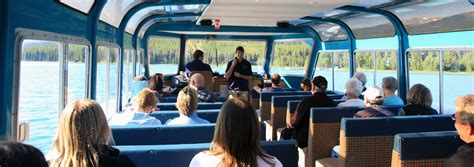 boat cruise jasper maligne valley sightseeing tour discover banff tours