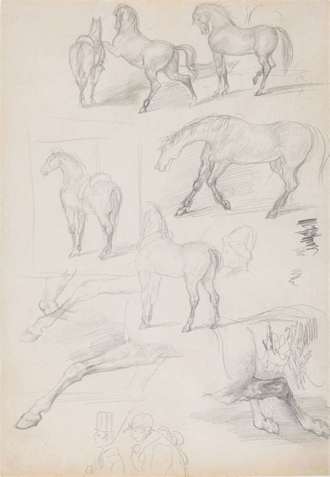 Sketches For Sale by Edgar Degas Studies Of Horses And Riders For Sale At 1stdibs
