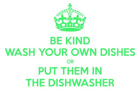 wash your own wash your own dishes sign foto 2017