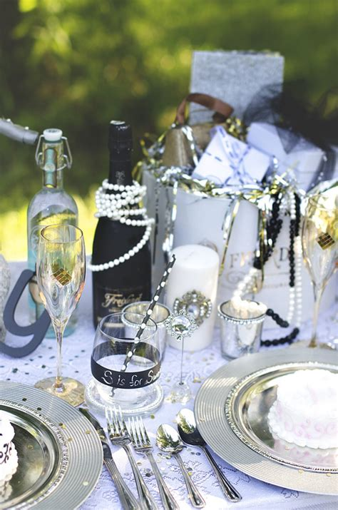 great gatsby bridal shower ideas kara s ideas the great gatsby wedding table planning ideas supplies idea