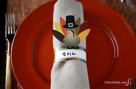 printable thanksgiving napkin ring craft printable turkey napkin rings fun family crafts