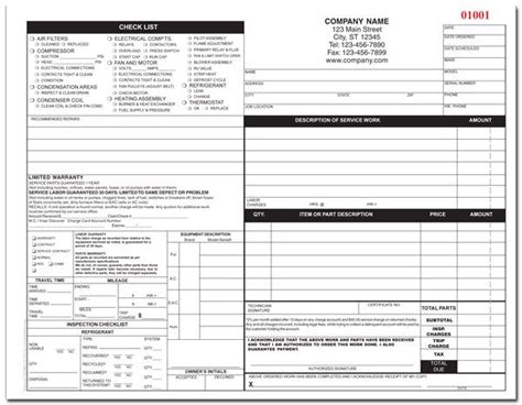 Hvac Form Hvac Start Up Report Template