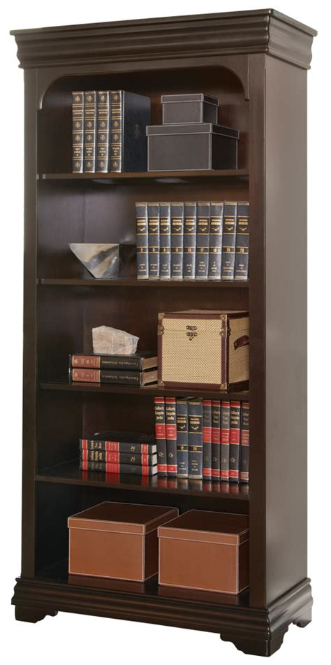 lighted bookshelves mahogany and more bookcases beaumont 5 shelf lighted open bookcase