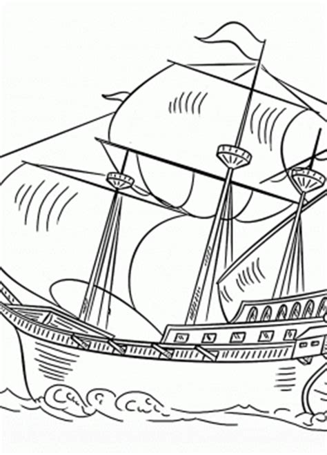 coloring page spanish galleon water transportation coloring pages for kids big
